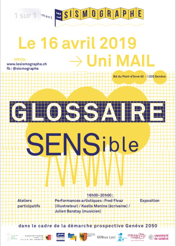 Glossaire sensible, le 16 avril à Genève
