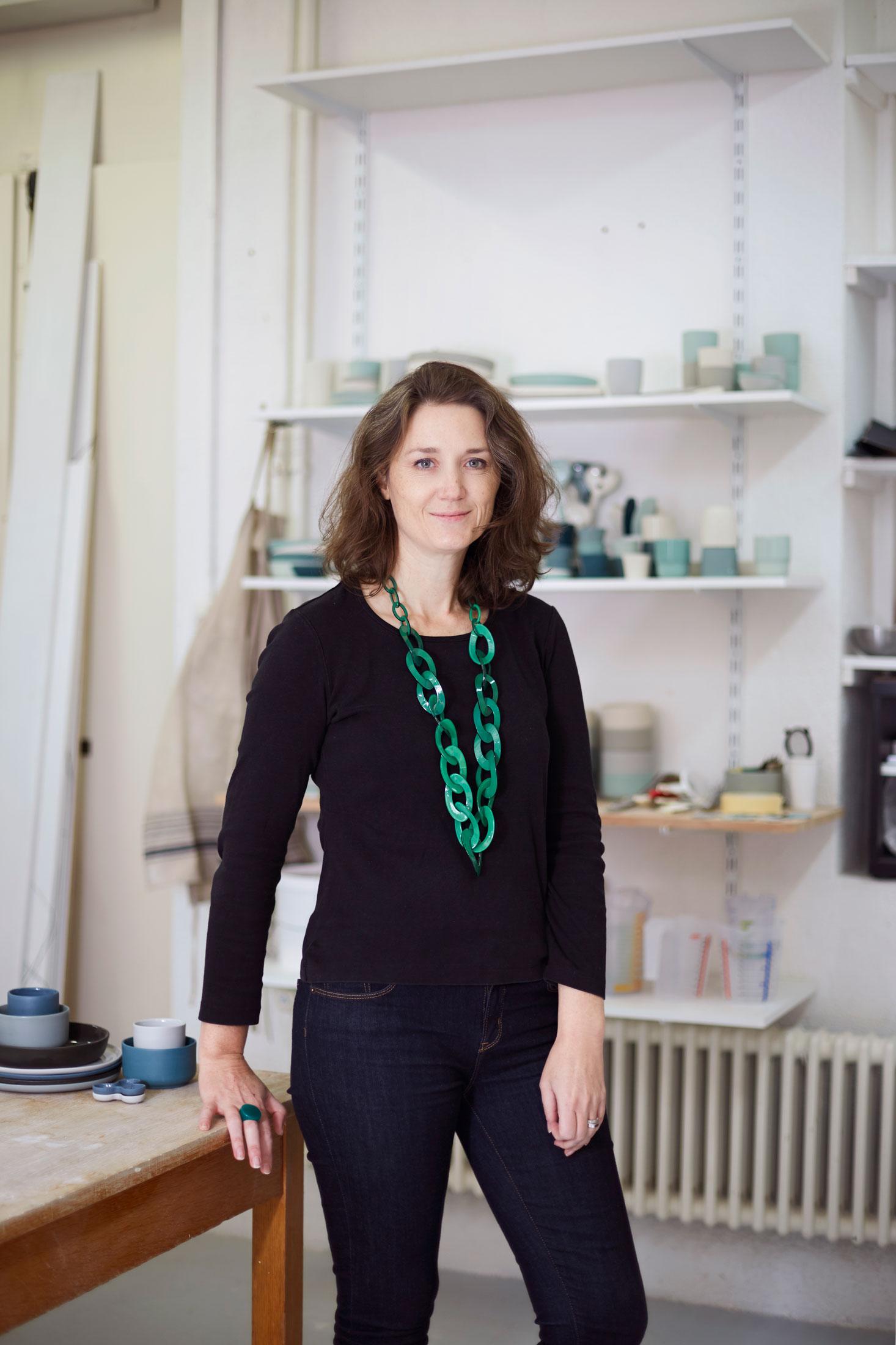 Ingrid Goetschy, céramiste, à L-Imprimerie