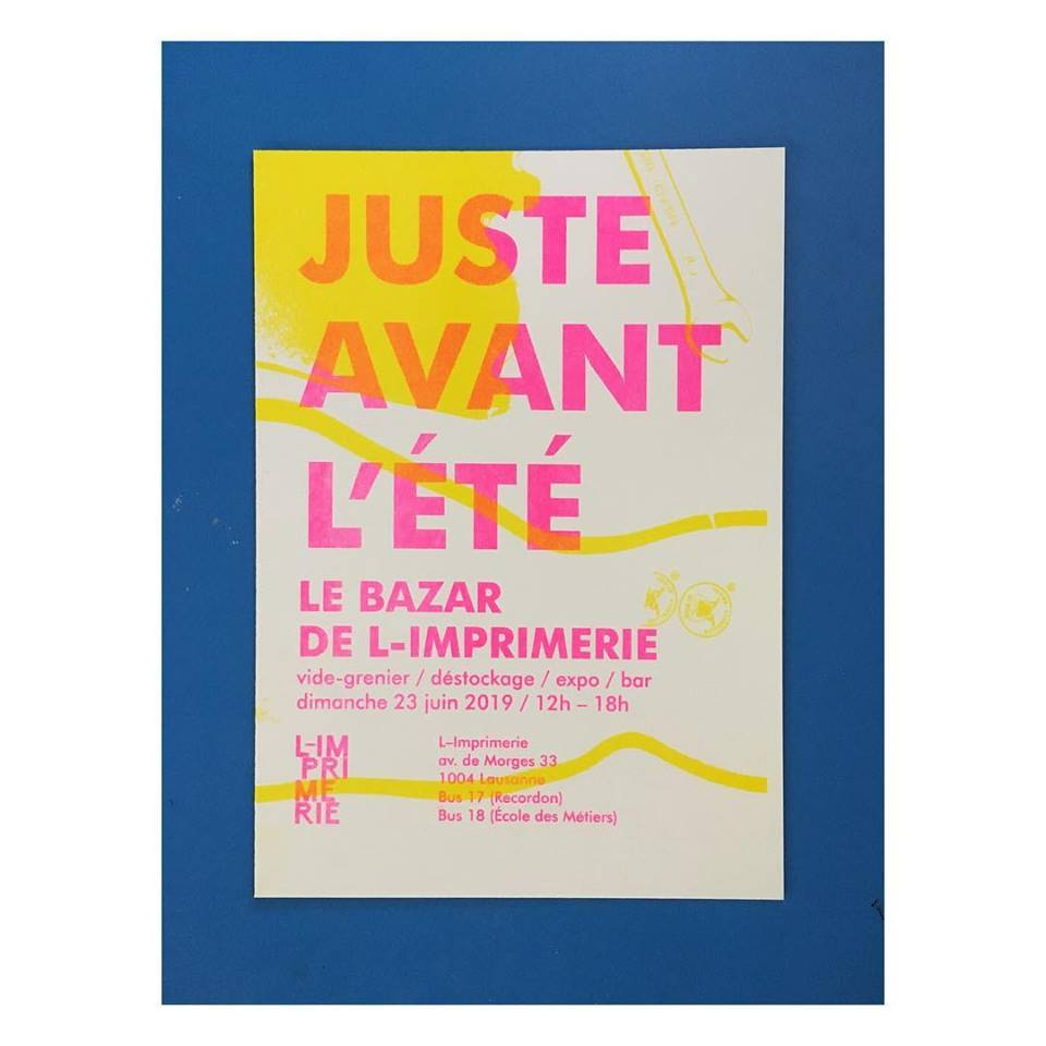 Dimanche 23 juin 2019: Le bazar de L-Imprimerie