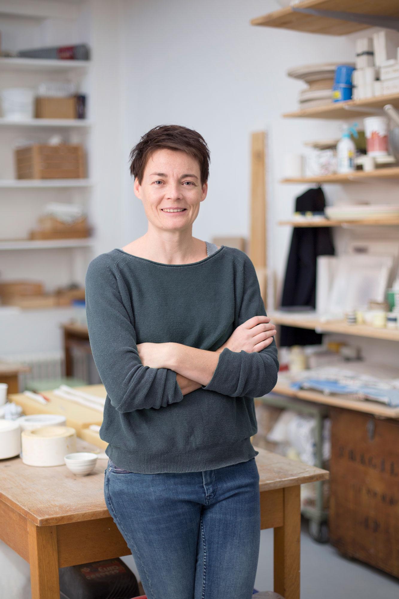 Valérie Alonso, céramiste à L-Imprimerie