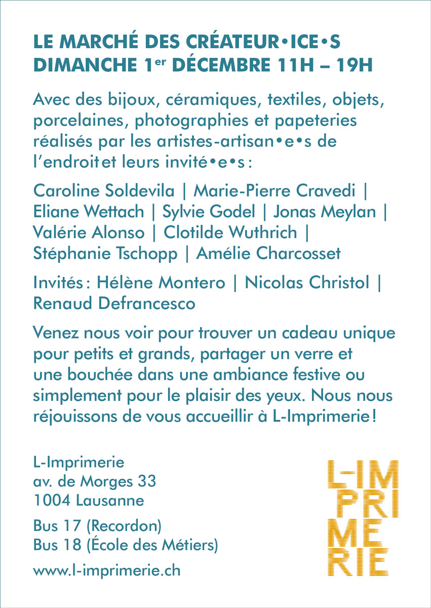 Texte du marché de Noël de L-Imprimerie 2019