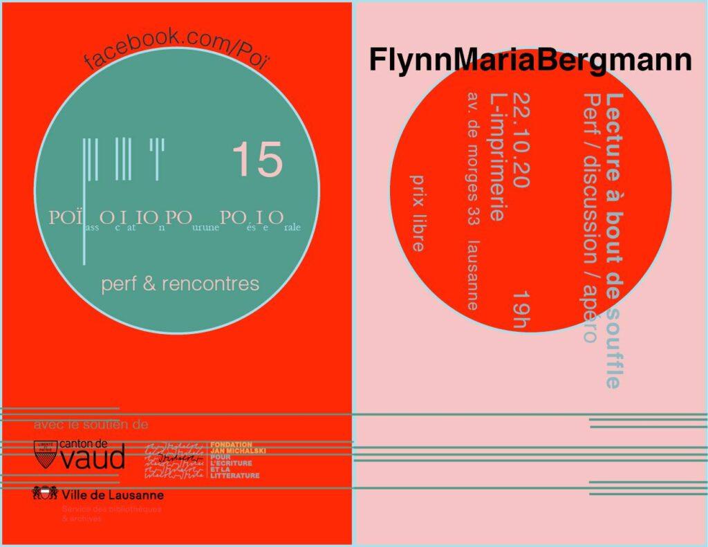 Poï 15 / Flynn Maria Bergmann / Lecture à bout de souffle