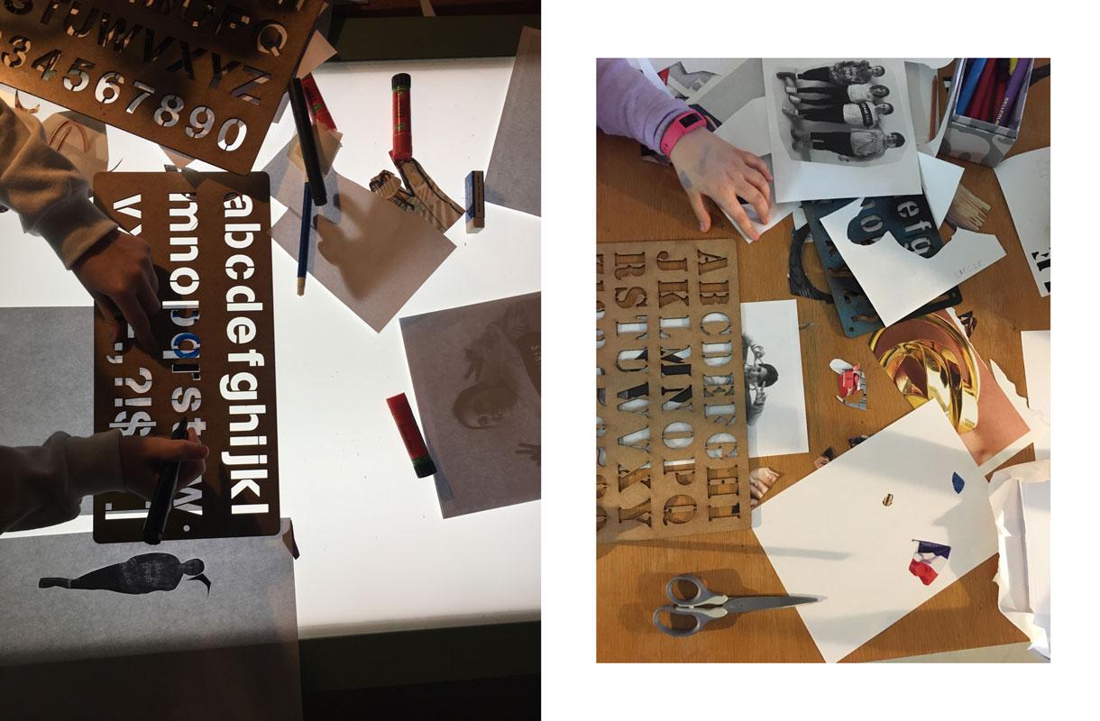 Atelier d'anniversaire à Lausanne, création d'un fanzine